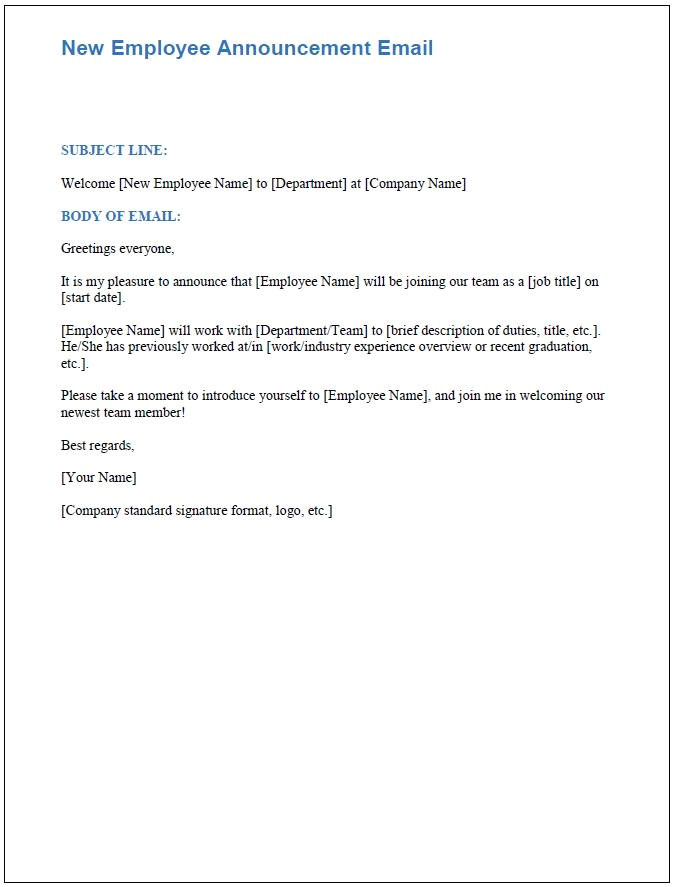 New Employee Announcement Email Template Free Onboarding Checklists and Templates Smartsheet