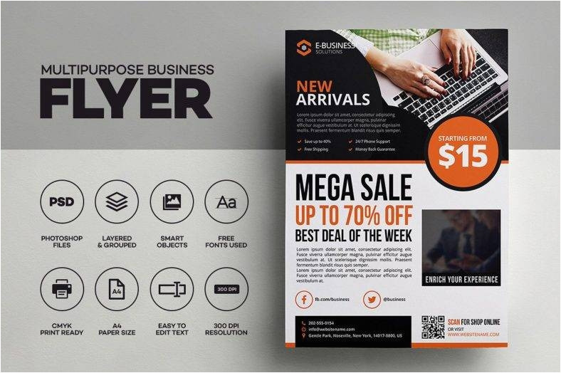 8 ecommerce flyer templates psd ai