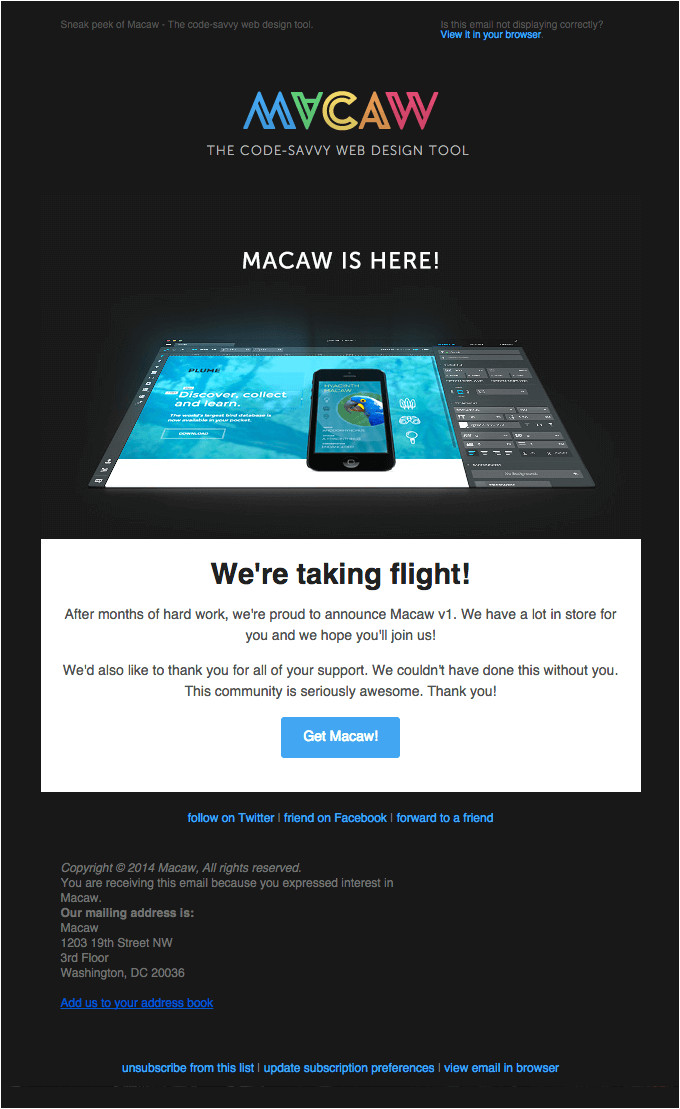 product launch announcement emails