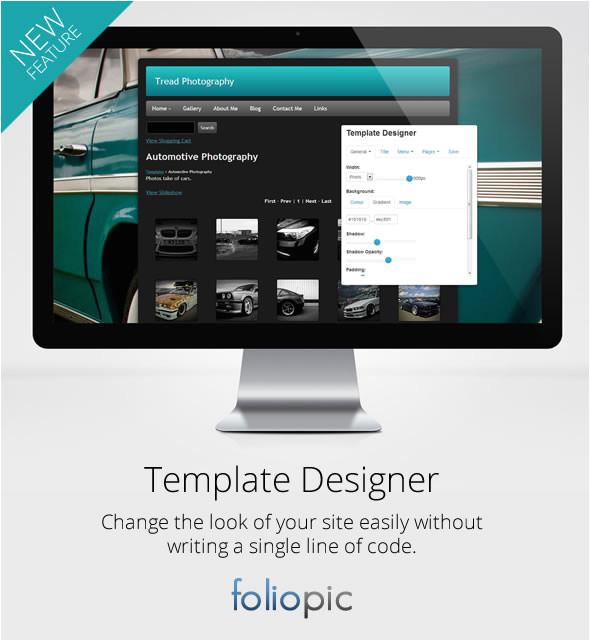 foliopic launch new template designer 23657
