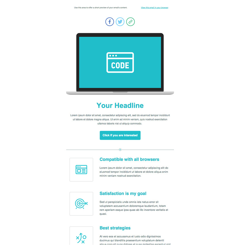 228 product launch responsive newsletter template