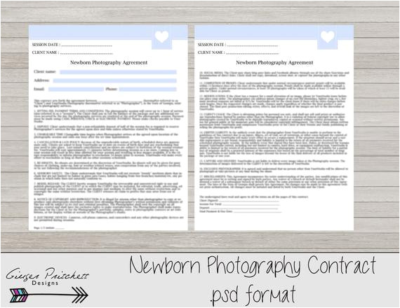 Newborn Photography Contract Template Newborn Photography Contract Model Release Newborn Session