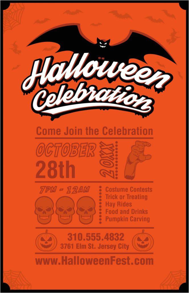 halloween templates free vector door hangers flyers banners