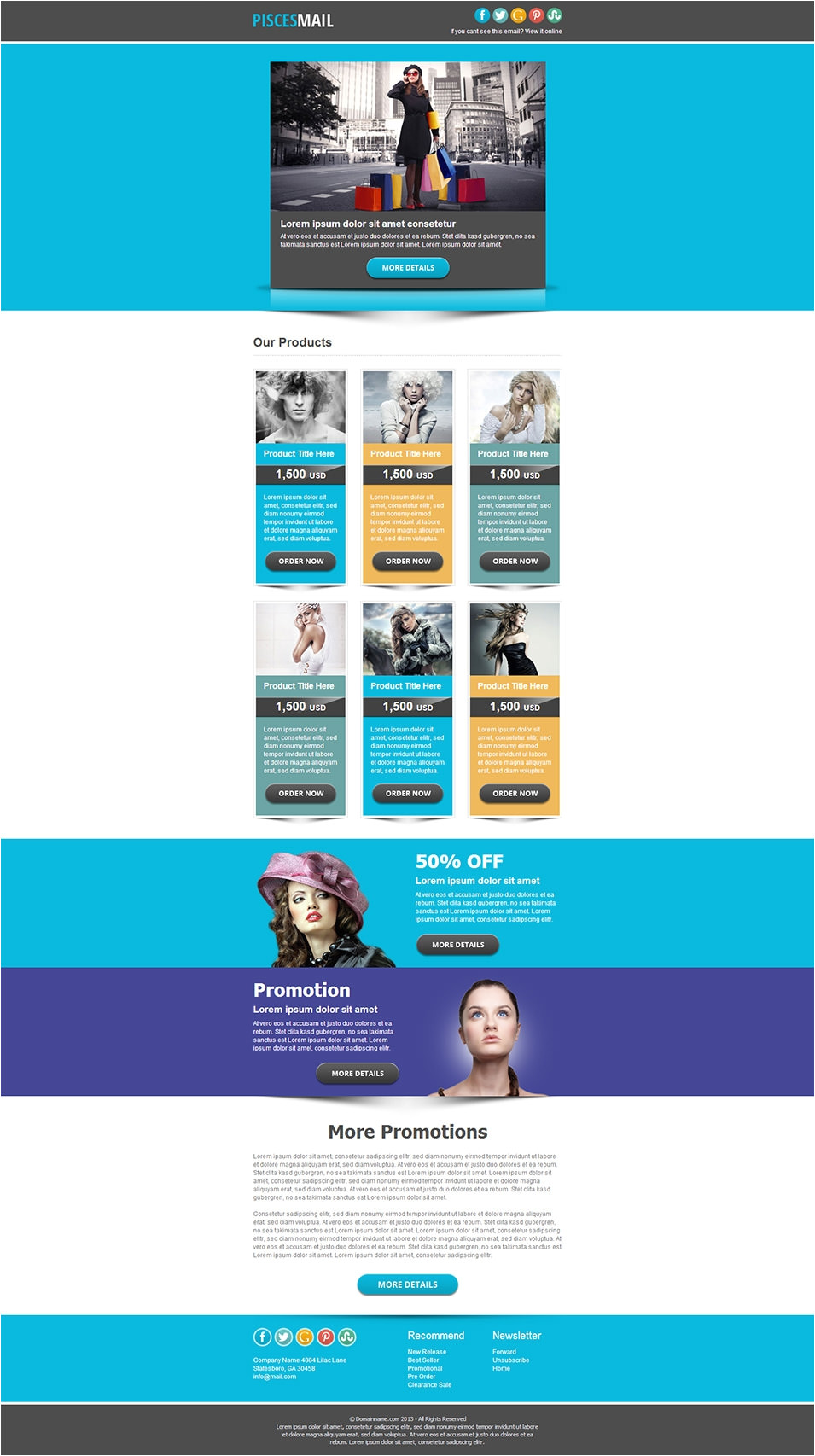 email newsletter templates to download