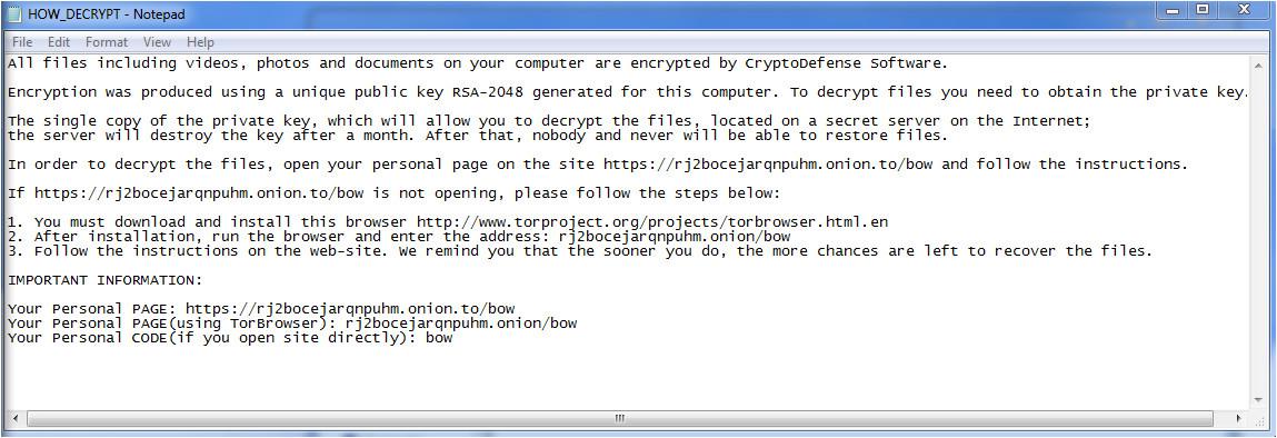 evolution encrypting ransomware