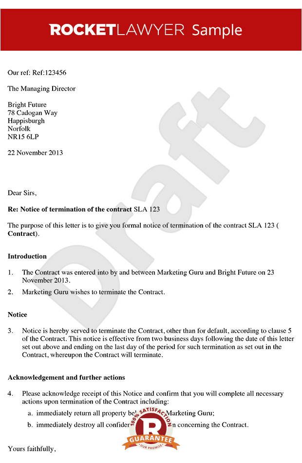 letter ending a contract rl
