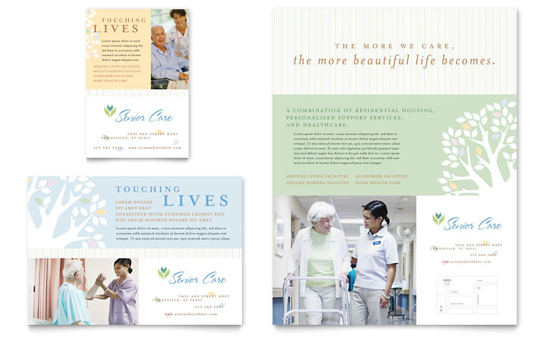 elder care nursing home flyer ad templates md0110701d