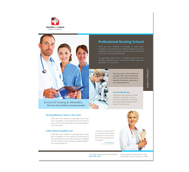 nursing school flyer template