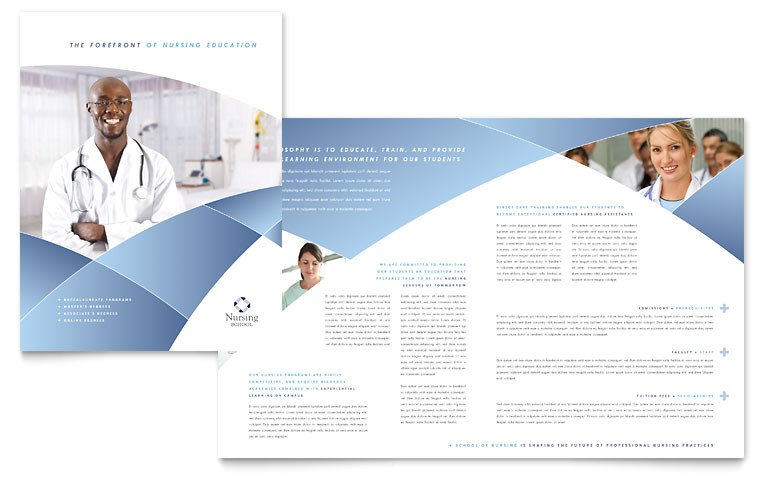 nursing school hospital brochure templates et0080101d