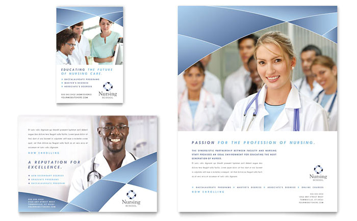 Nursing Flyer Templates Nursing School Hospital Flyer Ad Template Design
