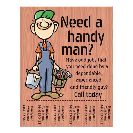 handyman carpenter plumber painter earn money flyer 244641312641324443