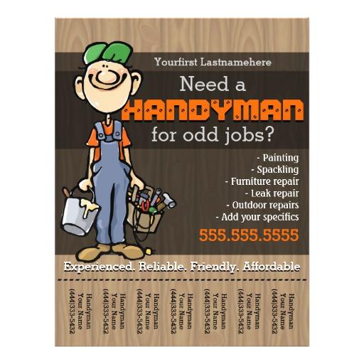 handyman carpenter plumberpainter odd jobs flyer 244415724043221356