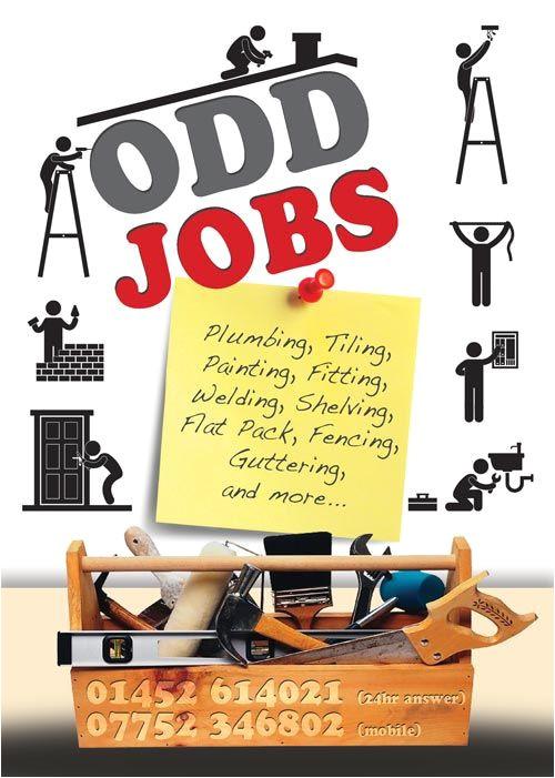 Odd Jobs Flyer Templates Odd Jobs Flyer Graphic Design Handyman Pinterest Flyers