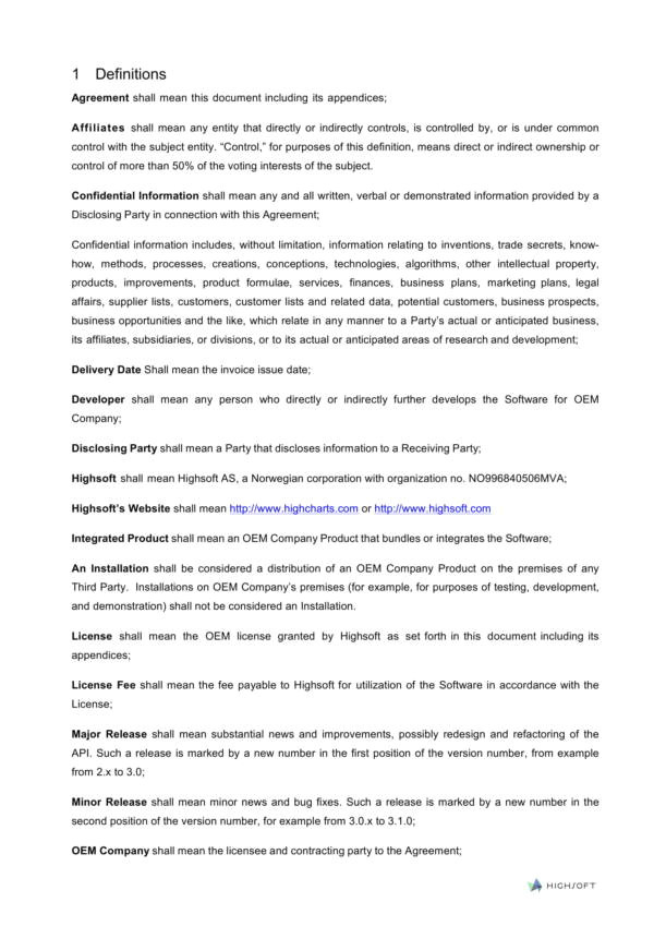 Oem Contract Template 13 Oem Distribution and License Agreement Samples