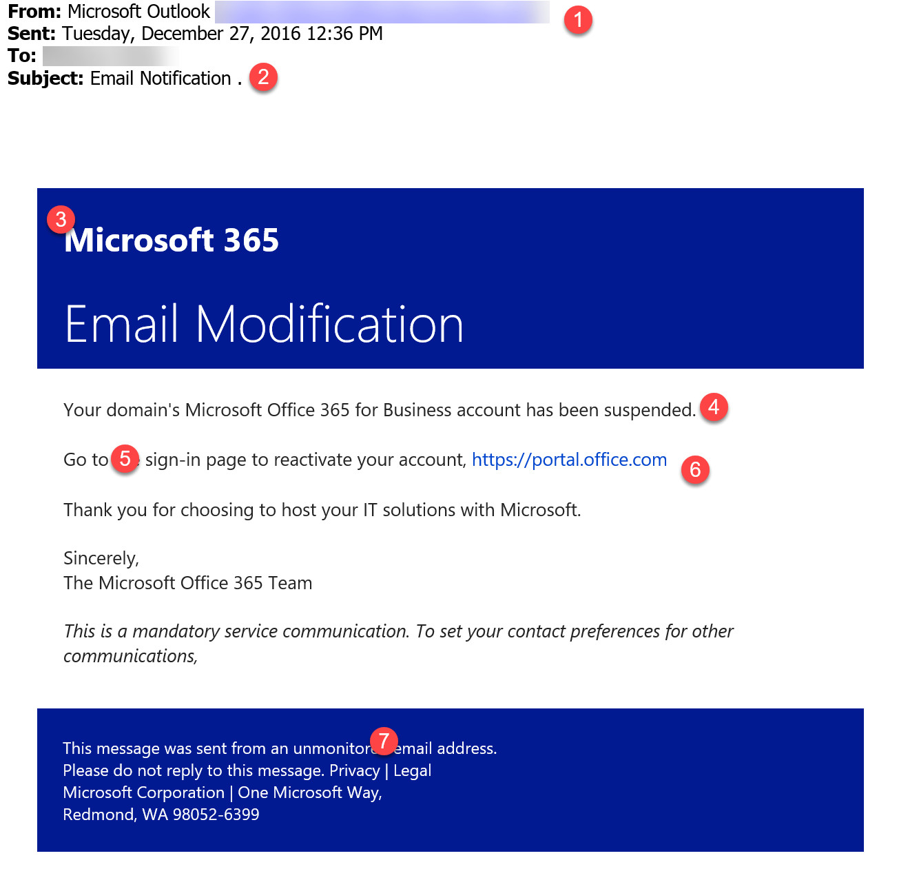 watch out for this office 365 phishing email