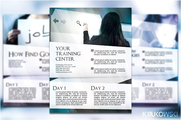 5891 business training flyer poster