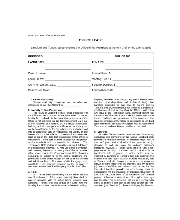 Office Rental Contract Template Rental Lease Template 13 Free Word Pdf Documents