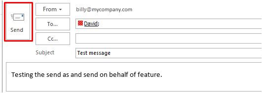 sending email as or on behalf of a person or group for outlook users