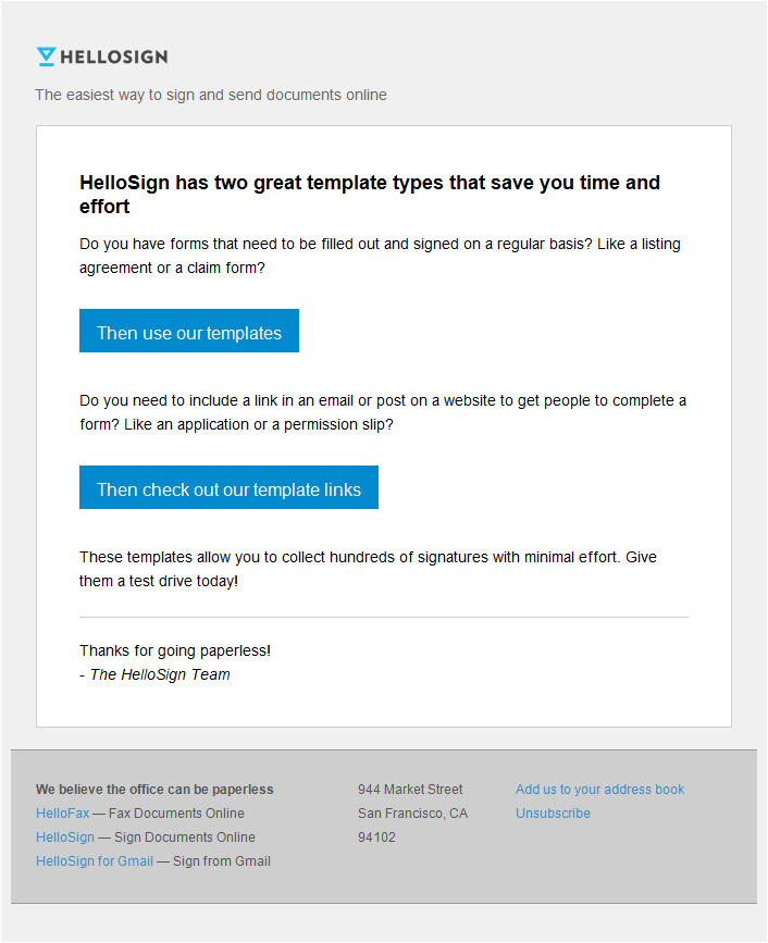 hello sign onboarding email 1