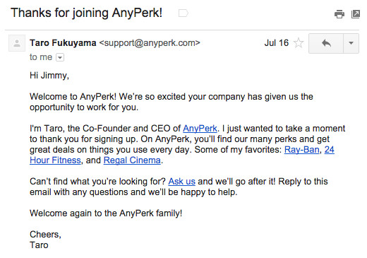 onboarding emails