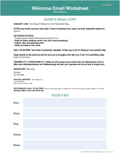welcome email examples