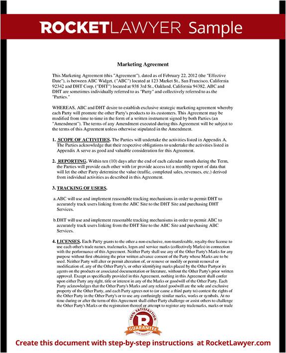 marketing agreement rl