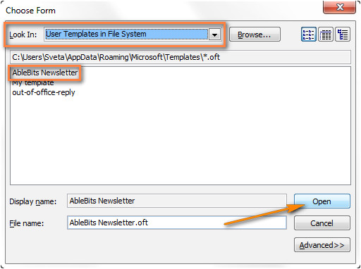 Open Email Template Outlook 2010 Create Email Templates In Outlook 2010 2013 for New
