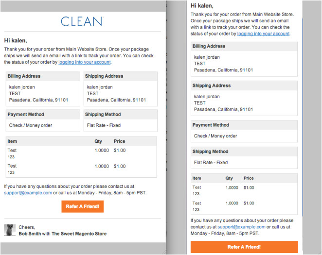 Order Confirmation Email Template Magento Responsive E Mails for Magento Openstream