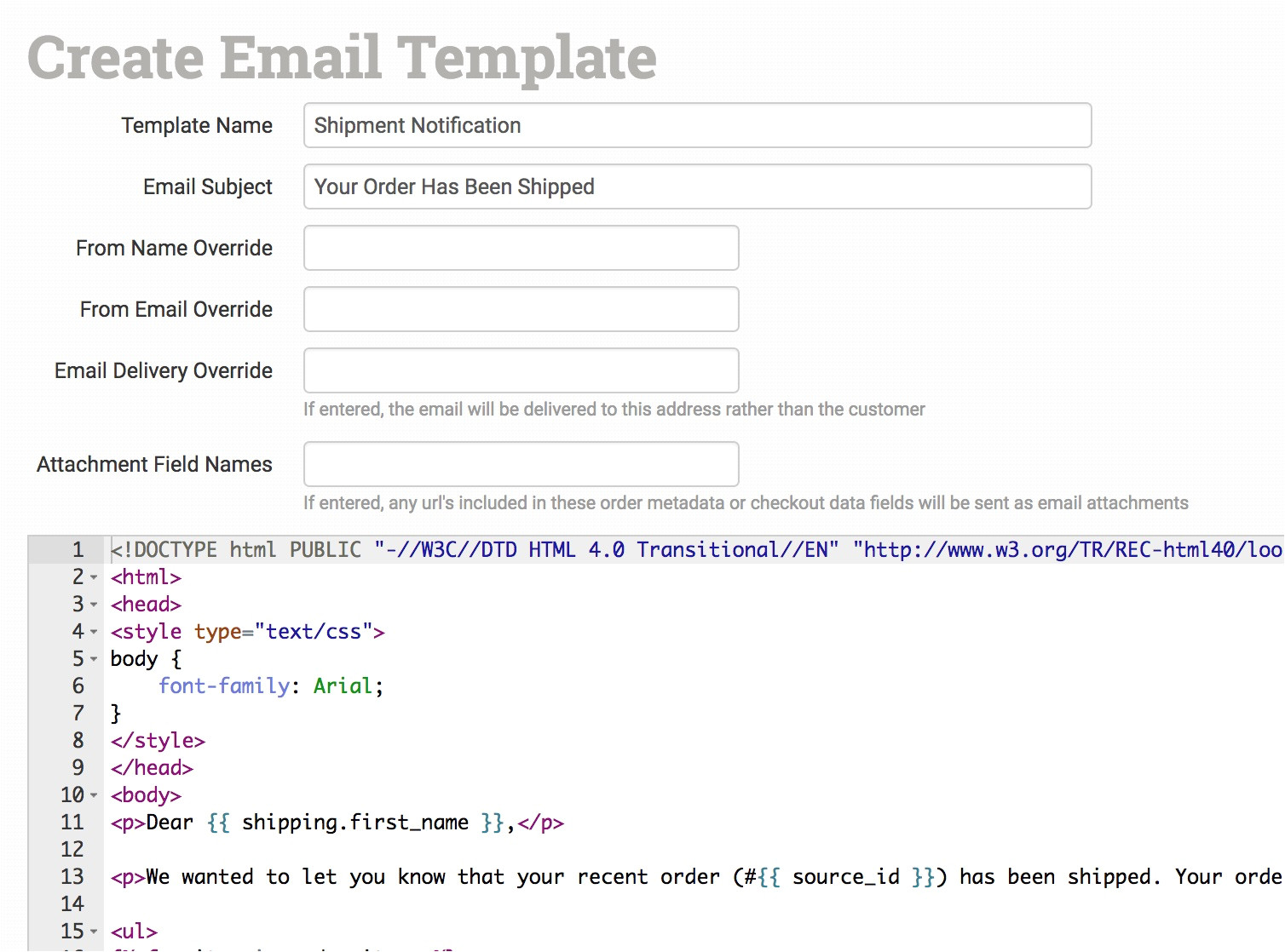 255 working with email templates