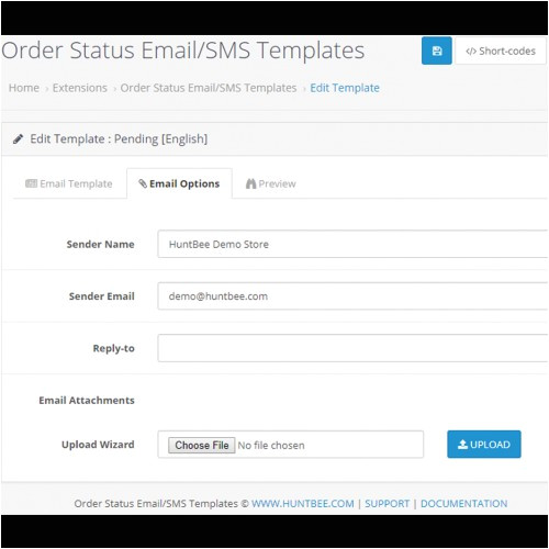 info extension id 19470 filter search status order email