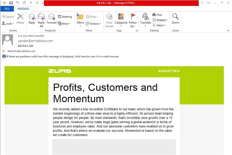 outlook 2013 email template