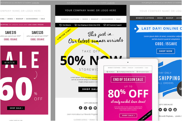 35 stylish and popular email templates