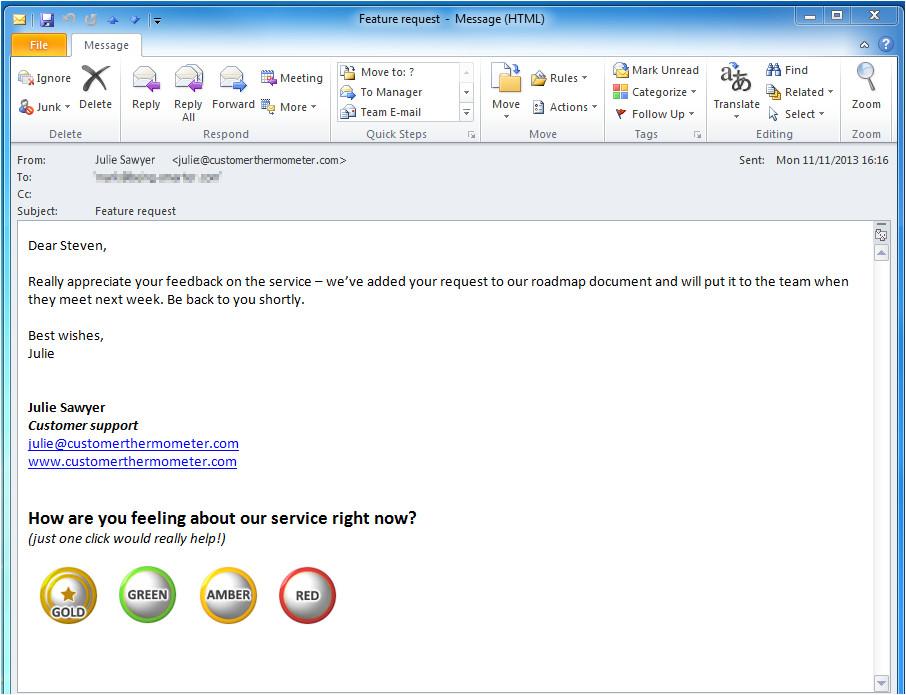 gmail signature surveys