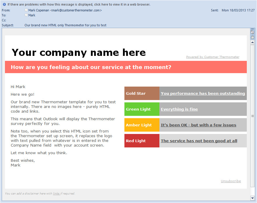 Outlook Email Survey Template Survey Design Using Microsoft Outlook Email Surveys