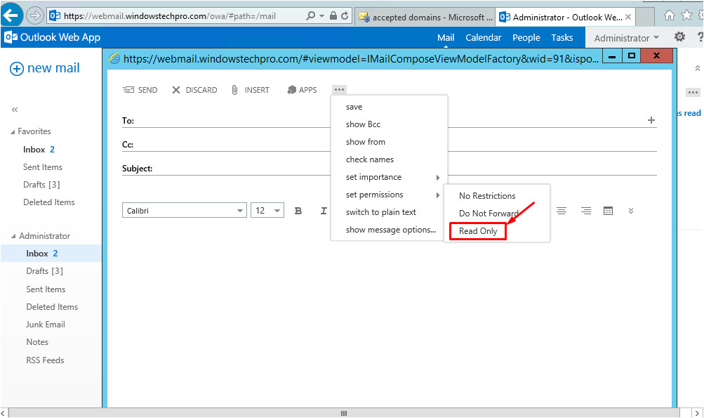 part 3 how to enable irm ad rms in exchange 2013
