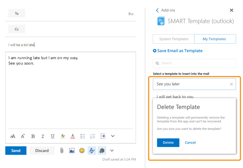 smart template outlook