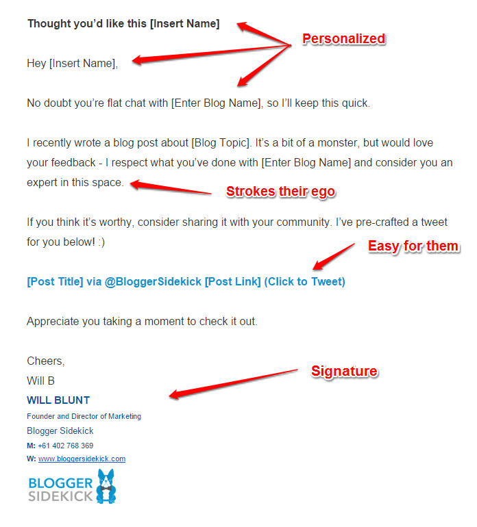 Outreach Email Template Blogger Sidekick Everything You Need to Know About