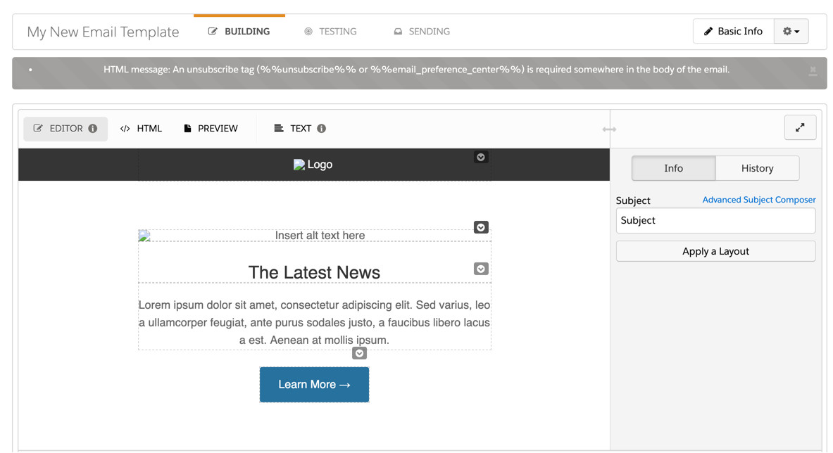 how to turn any email template into a pardot email template