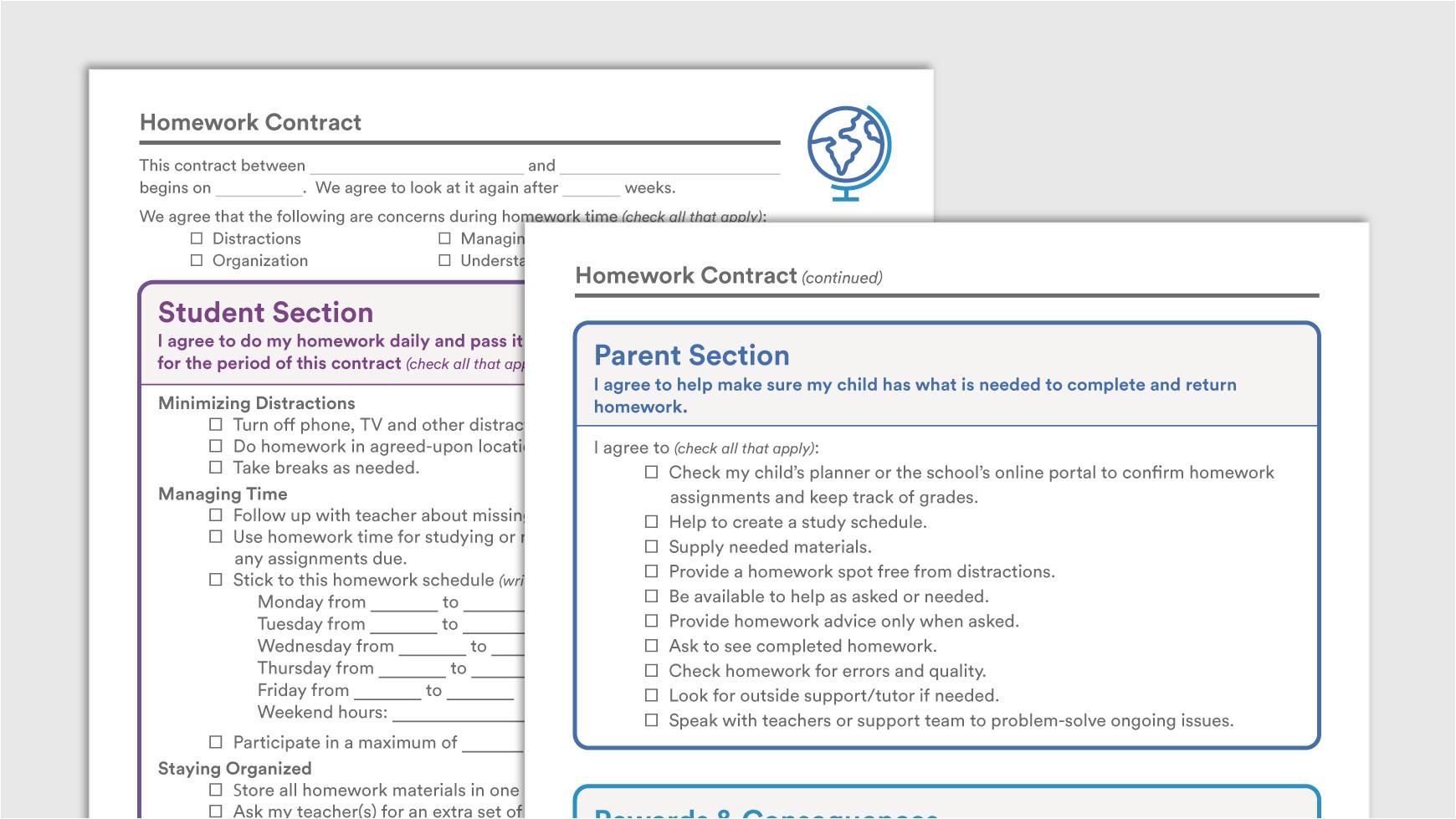 download sample homework contract