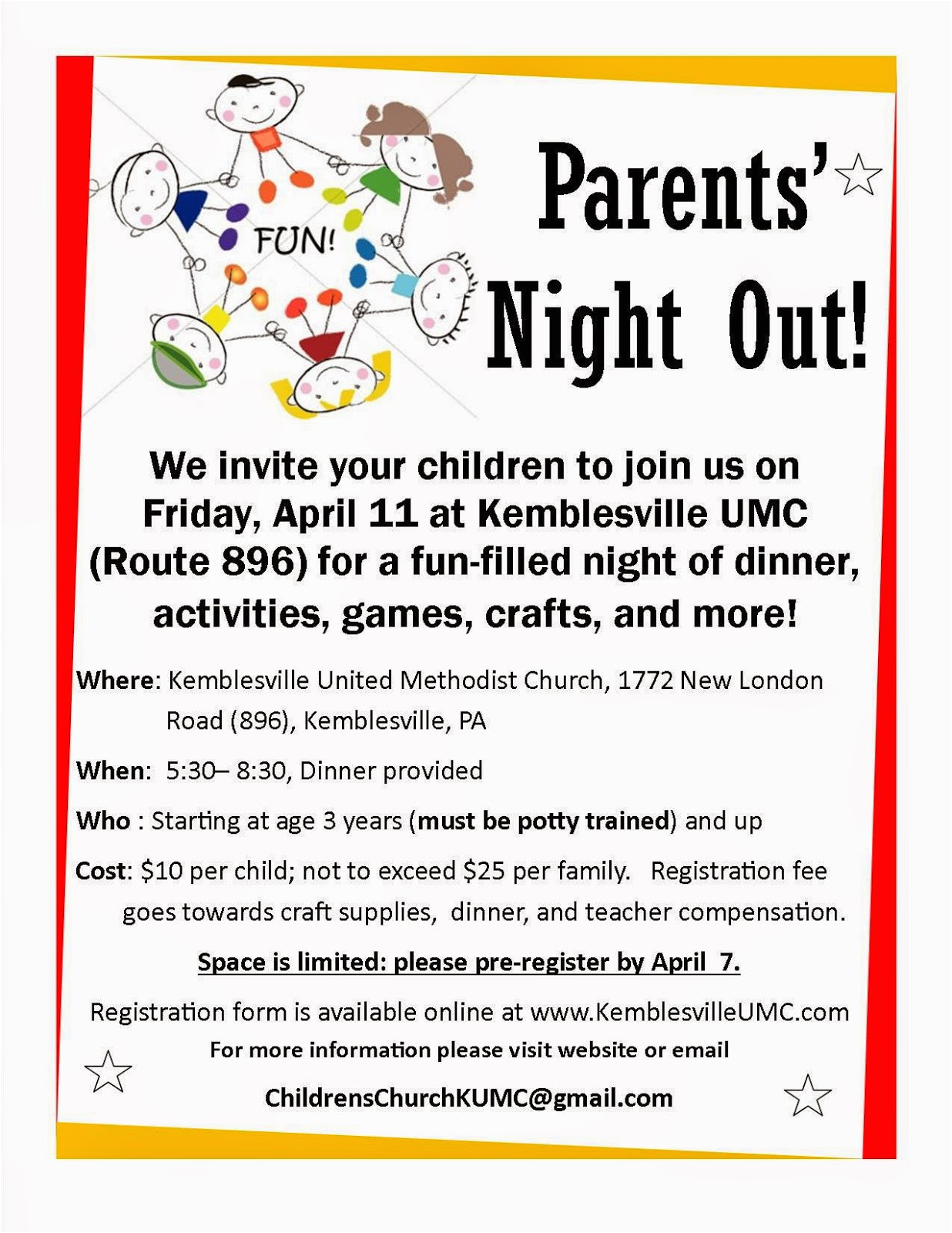 parents night out at kemblesville