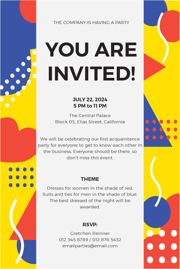 sample email invitation