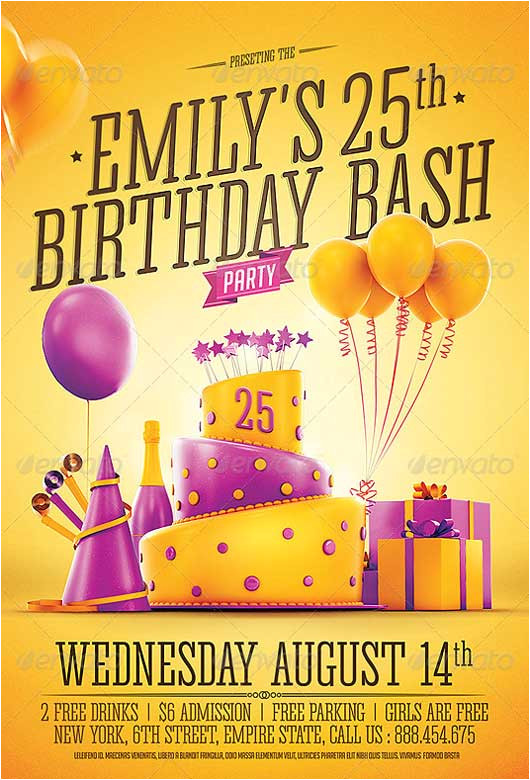 best of birthday flyer templates