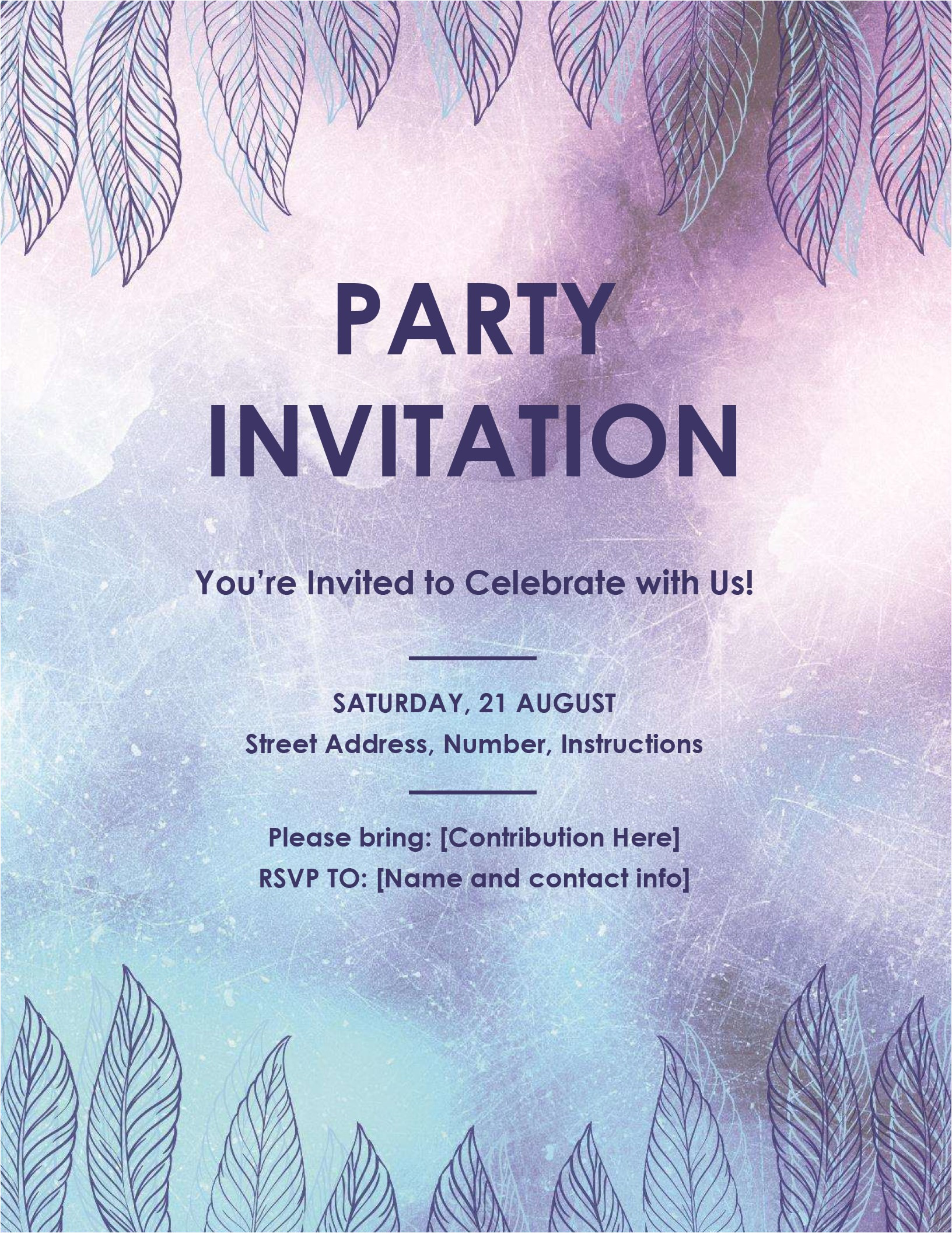 Party Invitation Flyer Templates Party Invitation Flyer
