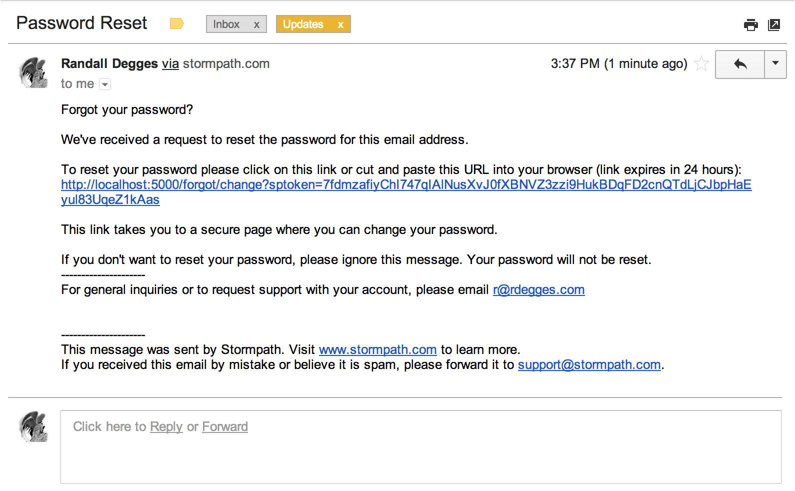 the pain of password reset