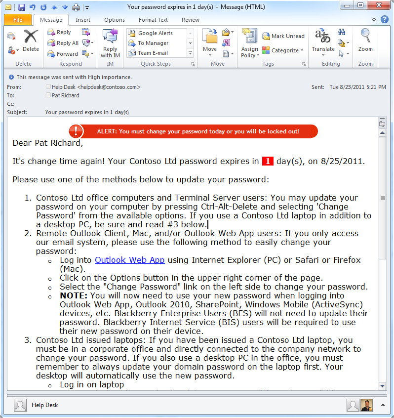 disable windows 7 home password expiration warning
