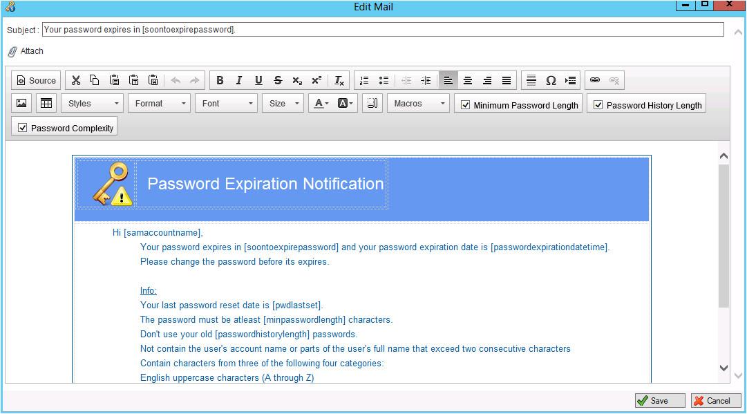 jiji password expiration notification general settings
