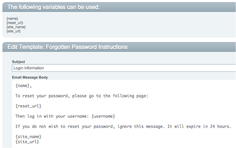forgot password email notification not rendering username