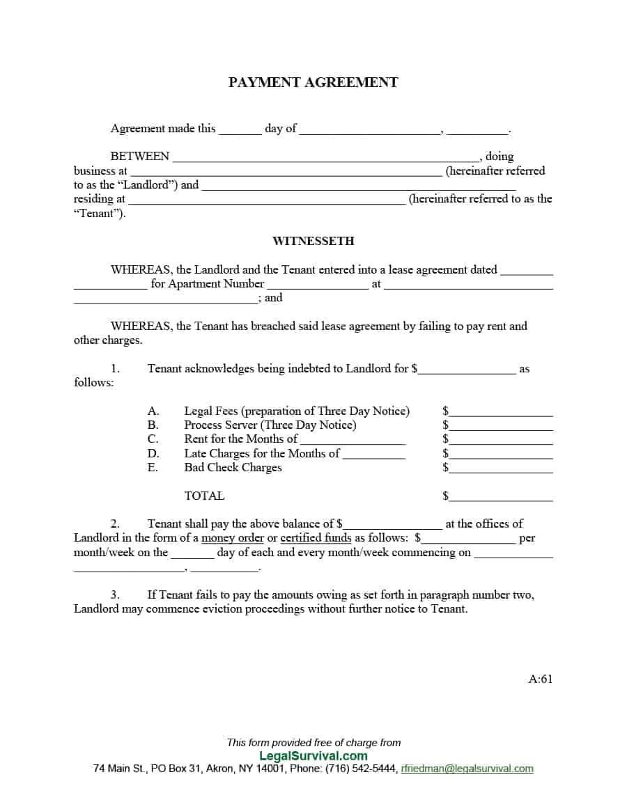 payment plan schedule