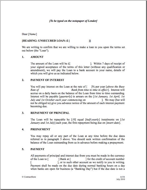 Personal Loan Repayment Contract Template Personal Loan Repayment Letter Sample Koikoikoi