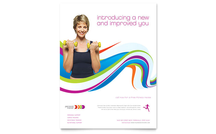 personal trainer flyer template design sf0091501